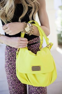 flourescent purse